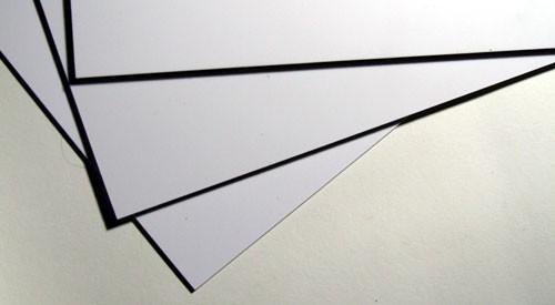Styrol Platte weiß 0.3 mm