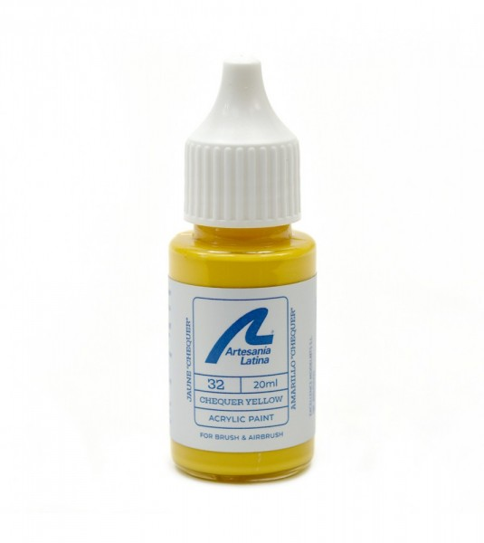 Water-based paint 20 ml - Chequer yellow
