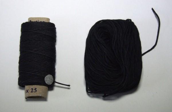 Cotton Thread black 0.50mm