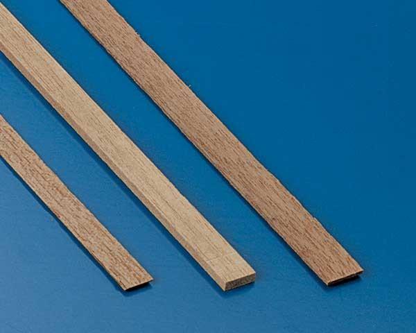 Nussbaumleisten 0,5x5mm(10Stk)