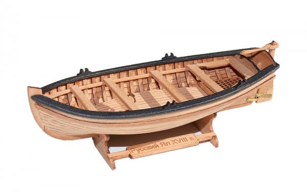Jolly-boat (4-oar) 1:72 + FIGURINE