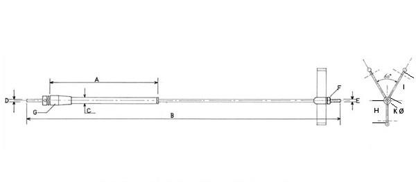 Wellenanlage 270mm M3 freilaufend
