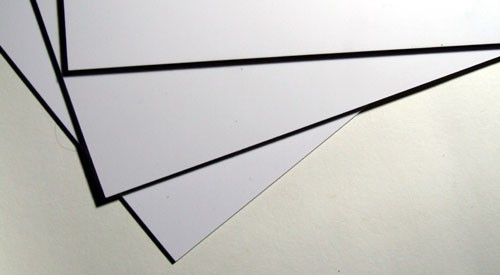 Styrol Sheet white 0.5 mm