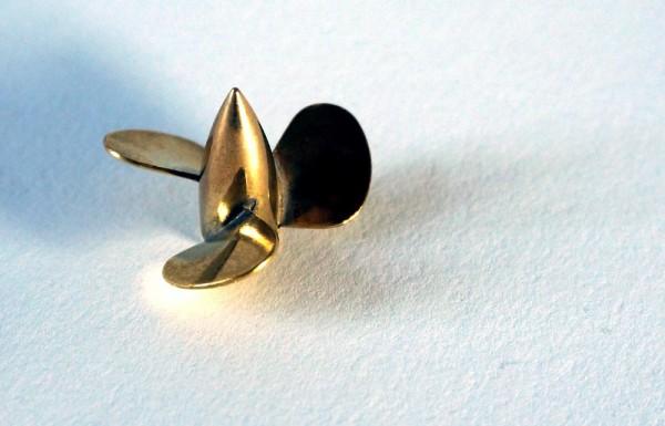 Brass Propeller D Type 3BL 25mm M2