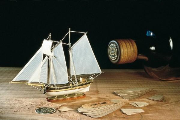 Flaschenschiff Schoner Hannah um 1775